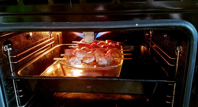 шашлык с жидким дымом в духовке