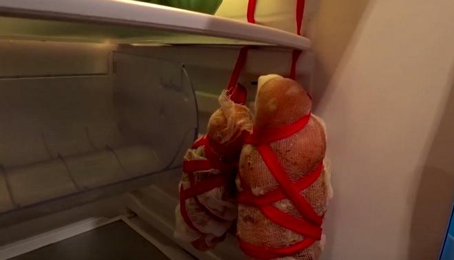 балык в холодильнике
