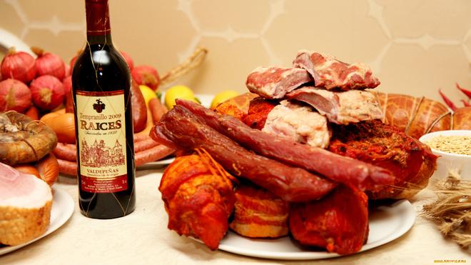 балык из говядины с вином