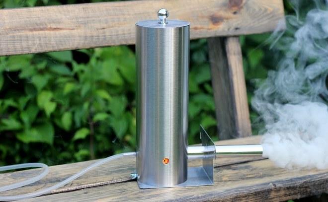 копчение при помощи дымогенератора коптил