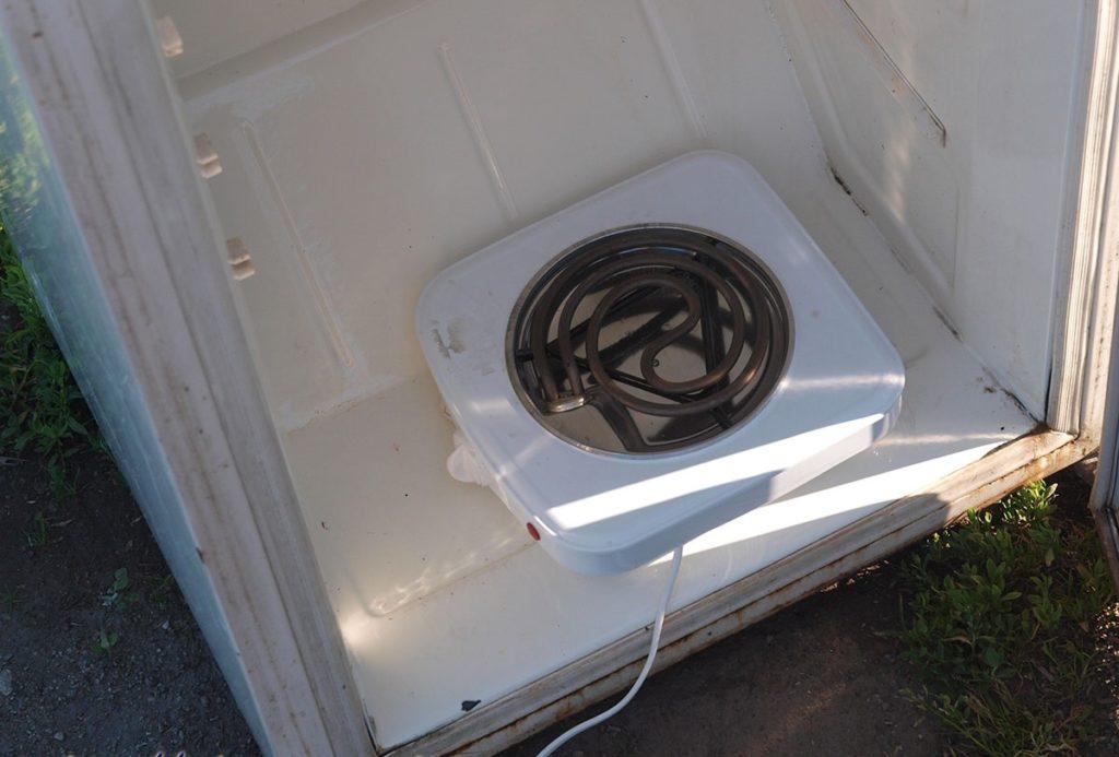 Электрическая плитка с открытым тэном
