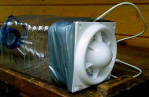 компрессор из вентилятора для ванной