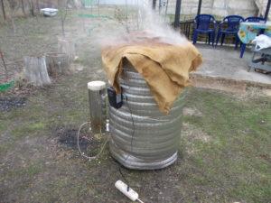С дымогенератором