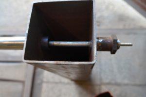 Коптильня с дымогенератором из профилированной трубы