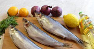 Рецепт сельди с лимоном