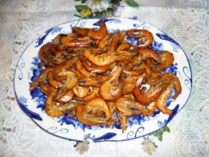 креветки горячего копчения