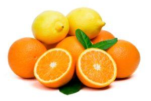 Лимон, апельсин