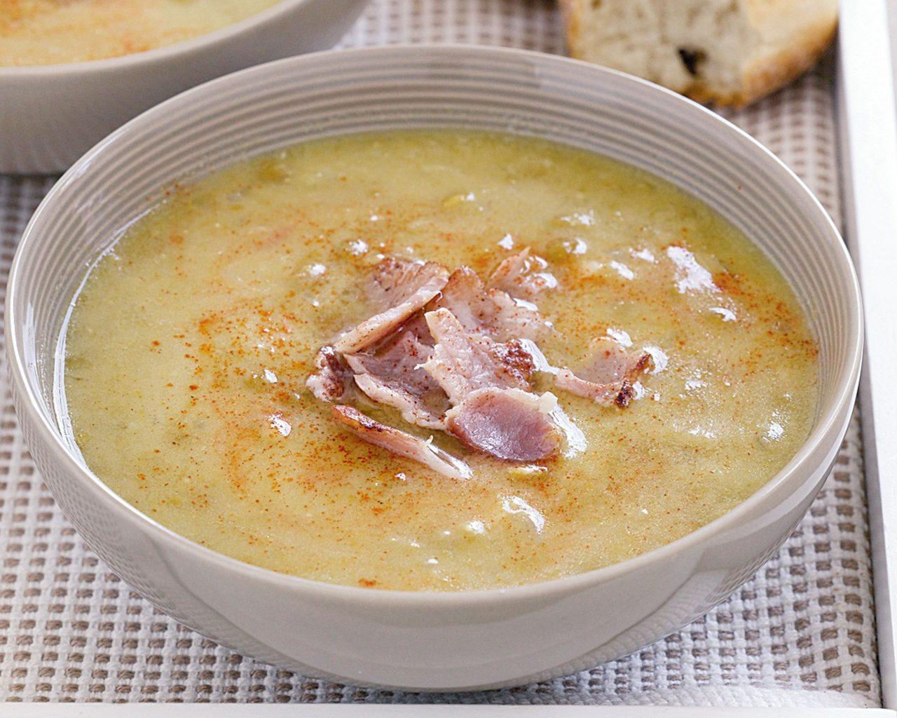 Рецепт горохового супа с беконом