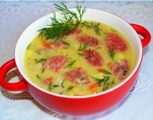 Сырный суп по-деревенски