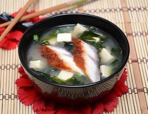 Японский суп из рыбы холодного копчения