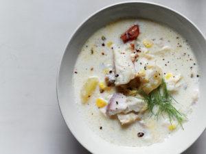 Австралийский суп из копченой рыбы