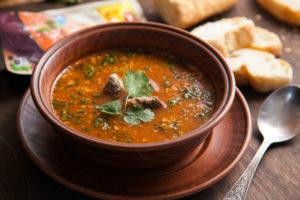 Суп харчо с копченой курицей