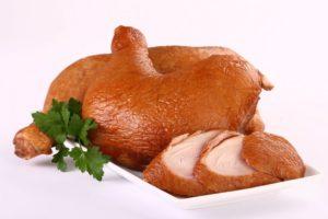 копченого куриного мяса