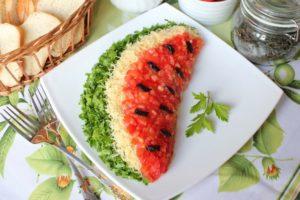 Салат «Долька арбуза»