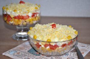 Порционный салат «Восторг»