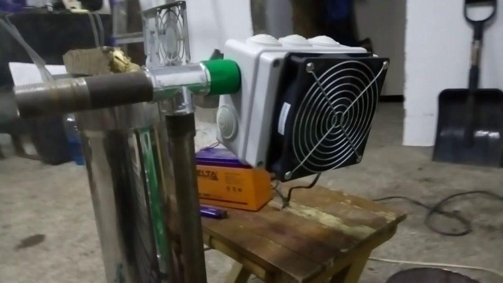 Вентиляторный блок для дымогенератора для копчения