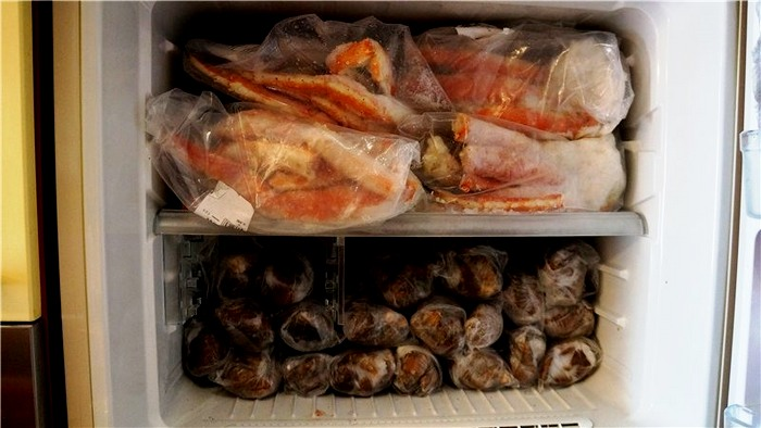хранение краба в холодильнике